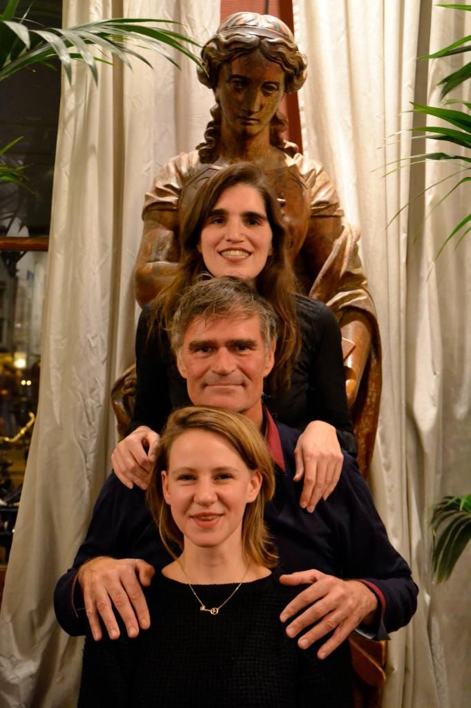 Van boven naar beneden: Nanda Janssen, Jhim Lamoree en Laurie Cluitmans.