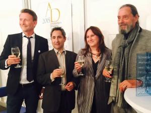 v.l.n.r. Robert-Jan Muller, Alessandro Cassin, Maria Rus Bojan, Ulay