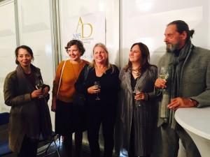 v.l.n.r. juryleden Nat Muller, Wieteke van  Zeil, Edna van Duyn en Maria Rus Bojan en Ulay